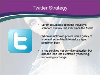 Brunette woman PowerPoint Template - Slide 9