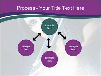 Brunette woman PowerPoint Template - Slide 91
