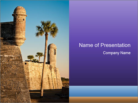 National Monument in St. Augustine PowerPoint Templates