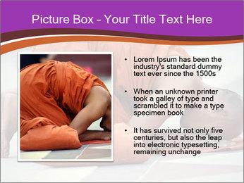 Monk kneels down PowerPoint Templates - Slide 13