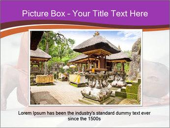Monk kneels down PowerPoint Templates - Slide 15