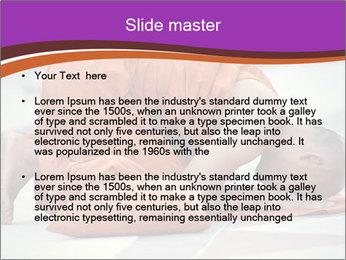 Monk kneels down PowerPoint Templates - Slide 2