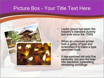 Monk kneels down PowerPoint Templates - Slide 20