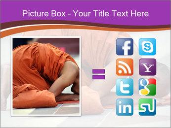 Monk kneels down PowerPoint Templates - Slide 21