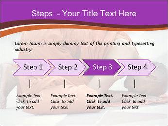 Monk kneels down PowerPoint Templates - Slide 4