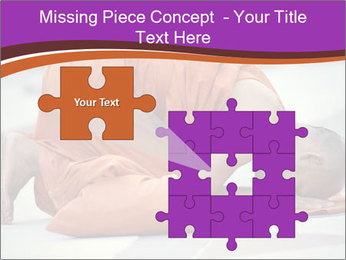 Monk kneels down PowerPoint Templates - Slide 45