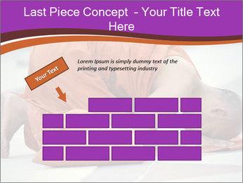 Monk kneels down PowerPoint Templates - Slide 46
