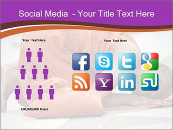 Monk kneels down PowerPoint Templates - Slide 5