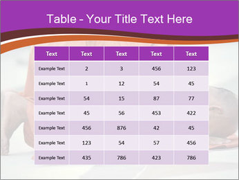 Monk kneels down PowerPoint Templates - Slide 55