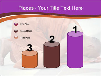 Monk kneels down PowerPoint Templates - Slide 65