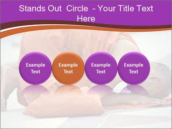 Monk kneels down PowerPoint Templates - Slide 76