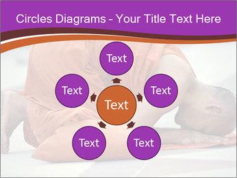 Monk kneels down PowerPoint Templates - Slide 78