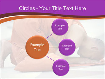Monk kneels down PowerPoint Templates - Slide 79