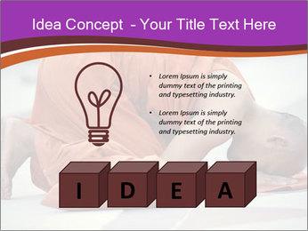 Monk kneels down PowerPoint Templates - Slide 80