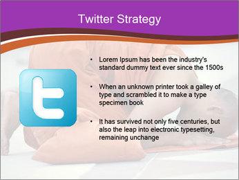 Monk kneels down PowerPoint Templates - Slide 9