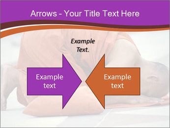 Monk kneels down PowerPoint Templates - Slide 90