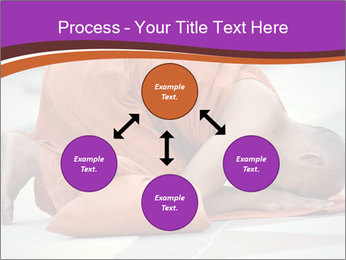 Monk kneels down PowerPoint Templates - Slide 91