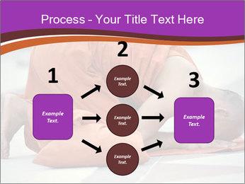 Monk kneels down PowerPoint Templates - Slide 92