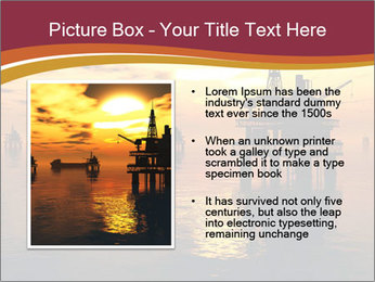 Sea Oil Platform and Tanker PowerPoint Templates - Slide 13