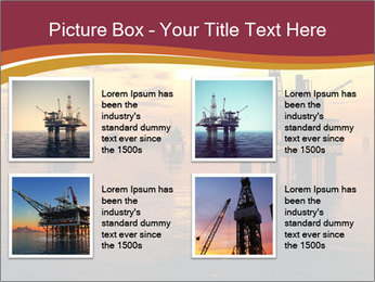 Sea Oil Platform and Tanker PowerPoint Templates - Slide 14