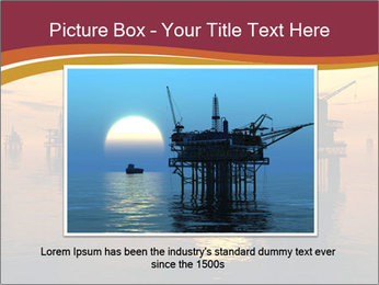 Sea Oil Platform and Tanker PowerPoint Templates - Slide 15