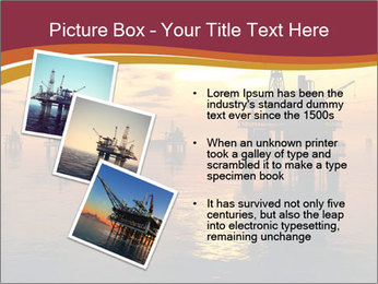 Sea Oil Platform and Tanker PowerPoint Templates - Slide 17