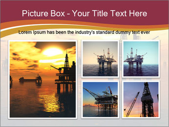 Sea Oil Platform and Tanker PowerPoint Templates - Slide 19