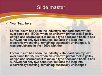 Sea Oil Platform and Tanker PowerPoint Templates - Slide 2
