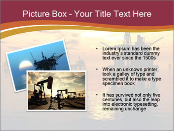 Sea Oil Platform and Tanker PowerPoint Templates - Slide 20