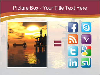 Sea Oil Platform and Tanker PowerPoint Templates - Slide 21