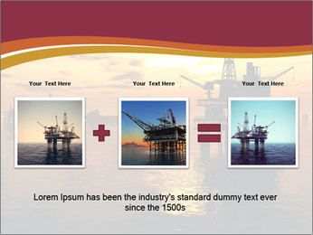 Sea Oil Platform and Tanker PowerPoint Templates - Slide 22