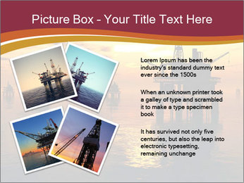 Sea Oil Platform and Tanker PowerPoint Templates - Slide 23