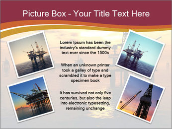 Sea Oil Platform and Tanker PowerPoint Templates - Slide 24