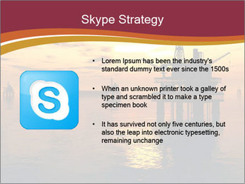 Sea Oil Platform and Tanker PowerPoint Templates - Slide 8