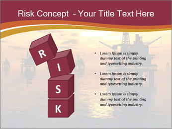 Sea Oil Platform and Tanker PowerPoint Templates - Slide 81
