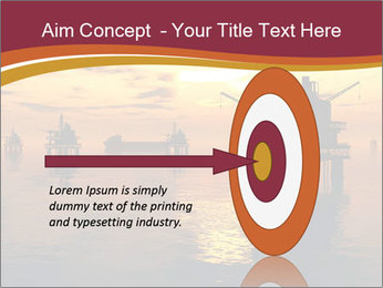 Sea Oil Platform and Tanker PowerPoint Templates - Slide 83
