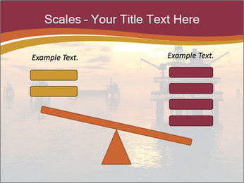 Sea Oil Platform and Tanker PowerPoint Templates - Slide 89
