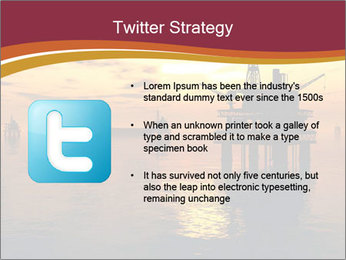 Sea Oil Platform and Tanker PowerPoint Templates - Slide 9