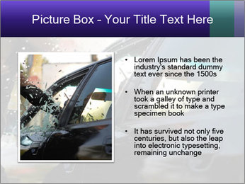 Man breaking a car's PowerPoint Templates - Slide 13