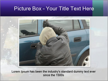 Man breaking a car's PowerPoint Templates - Slide 16