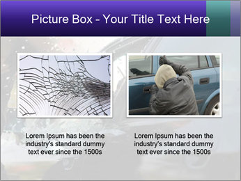 Man breaking a car's PowerPoint Templates - Slide 18