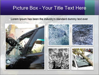 Man breaking a car's PowerPoint Templates - Slide 19