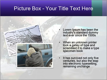 Man breaking a car's PowerPoint Templates - Slide 20