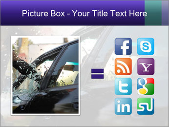 Man breaking a car's PowerPoint Templates - Slide 21