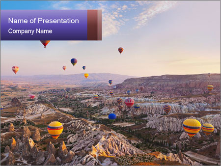 Hot air balloon PowerPoint Template
