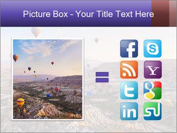 Hot air balloon PowerPoint Template - Slide 21