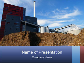 Bio power plant PowerPoint Template - Slide 1