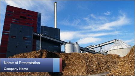 Bio power plant PowerPoint Template