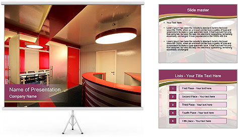 Modern interior PowerPoint Template