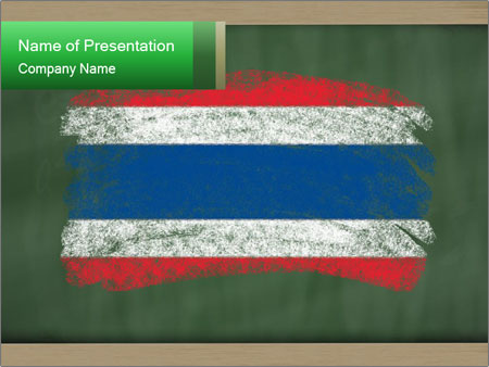 Chalky national flag PowerPoint Template